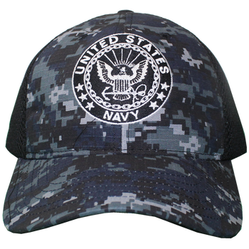 5b21f4e436a 26030 - U.S. Navy Cap - Made in USA - Blue Digital Camo Black Mesh