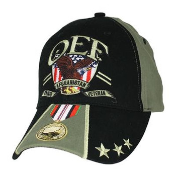 93ad119f126 6672 - OEF Proud Afghanistan Veteran Cap Cotton - Black Olive Drab