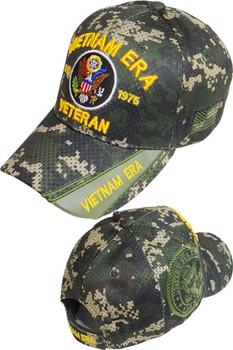 98bba1fdcf3fb Vietnam Era Veteran Cap U.S. Army Shadow - Air Mesh - Digital Woodland Camo