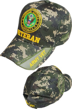 U.S. Army Veteran Cap Emblem Shadow - Air Mesh - Digital Woodland Camouflage 33ad9138d35