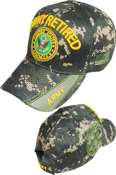 353642369c38d1 U.S. Army Retired Cap - Air Mesh - Digital Woodland Camouflage