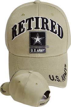 e7ebe01c639252 U.S. Army Retired Cap - Star Logo - Khaki