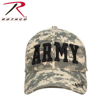 7bcc3aeb6fc08 Rothco Deluxe Army Cap Embroidered Insignia Low Profile (Item  9488) -ACU  Digital