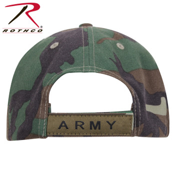 76fbe7adaa3a Rothco Deluxe Army Cap Embroidered Insignia Low Profile (Item #3908) -  Woodland Camo