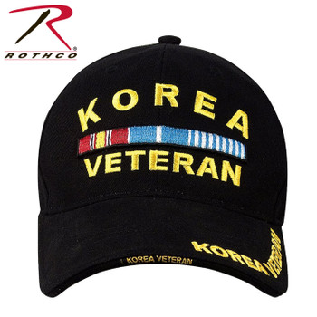 0ffb54b439bfe Rothco Deluxe Korea Veteran Cap Embroidered Low Profile (Item  9421) - Black
