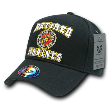 e412f99faf09b RET - Military Cap - U.S. Marines - Retired - Black