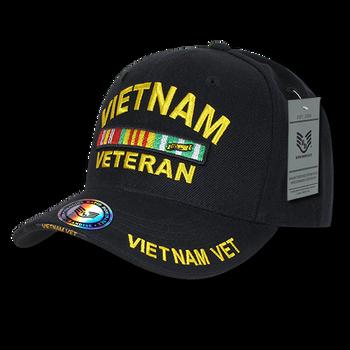 5d7b1996215ae S001 - Military Cap - Vietnam Veteran - Black