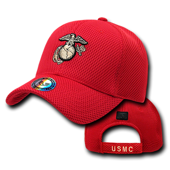 3a0311da1dddb S002 - Air Mesh Military Cap - U.S. Marines - Red