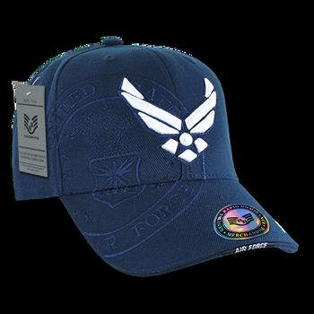 c427c781152 S007 - Shadow Military Cap - U.S. Air Force Wings Logo - Dark Blue