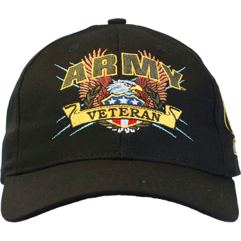 02bd2dfc404e34 Officially Licensed Military Veteran Caps - U.S. Military Hats