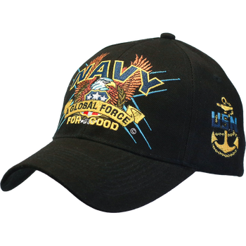 46d66e97496 16352 - Military Hat - U.S. Navy - Slogan - A Global Force For Good