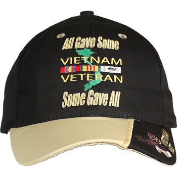 df54c09b951a6 21639 - Military Caps - Made In USA - Vietnam Veteran - All Gave Some