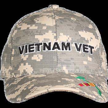 70b54e1ef241 21646 - Made In USA Military Hat - Vietnam Veteran - Digital Camouflage