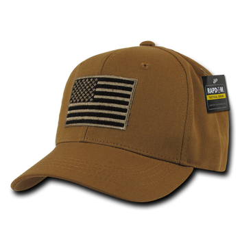 T76 - Tactical Operator Cap - American Flag Subdued - Coyote 98dab1c5a11