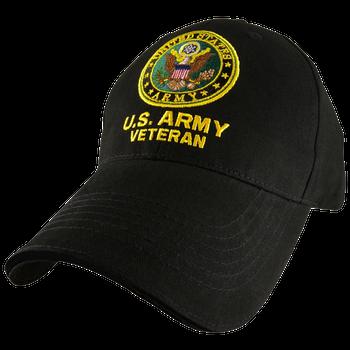 3d6d72a1e50 5344 - U.S. Army Veteran Cap - Cotton - Black