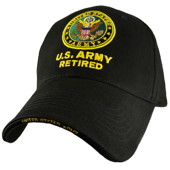 929ec25ba6b4fd 5345 - U.S. Army Retired Cap - Cotton - Black