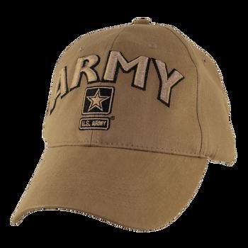 US Army Hat Coyote Brown Military Baseball Cap Ballcap Rothco 8955