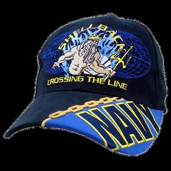 a0d0344d21e 5767 - U.S. Navy Cap - Shellback Crossing The Line - Cotton - Dark Navy