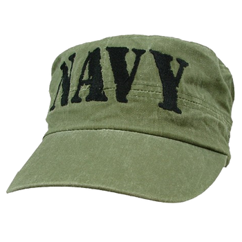 60622faeaf7 5805 - U.S. Navy Patrol Cap - Flat Top Vintage - Cotton - OD Green