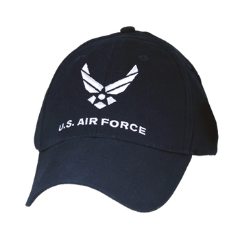 cc2bda00100 6467 - U.S. Air Force Cap - Wings Logo - Cotton - Dark Blue