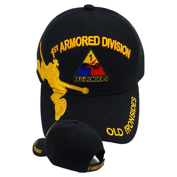 1st Armored Division Shadow Cap - Old Ironsides - Black