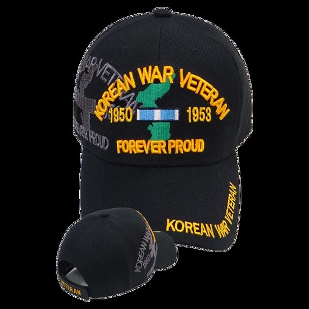 Korean War Veteran Shadow Cap - Black