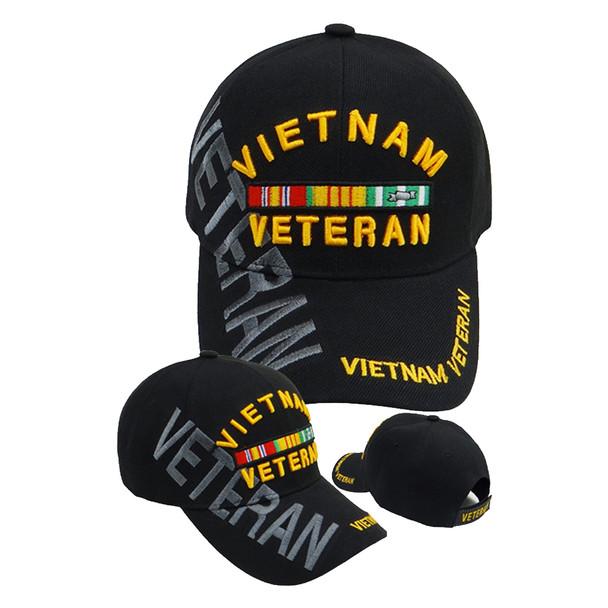 Vietnam Veteran Shadow Cap - Black