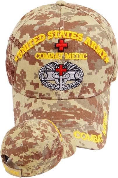 U S  Army Combat Medic Shadow Cap - Digital Desert Camo