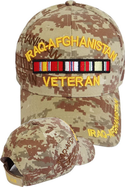 6d6a5445 Iraq Afghanistan Veteran Cap with Ribbons - Desert Digital Camo ...