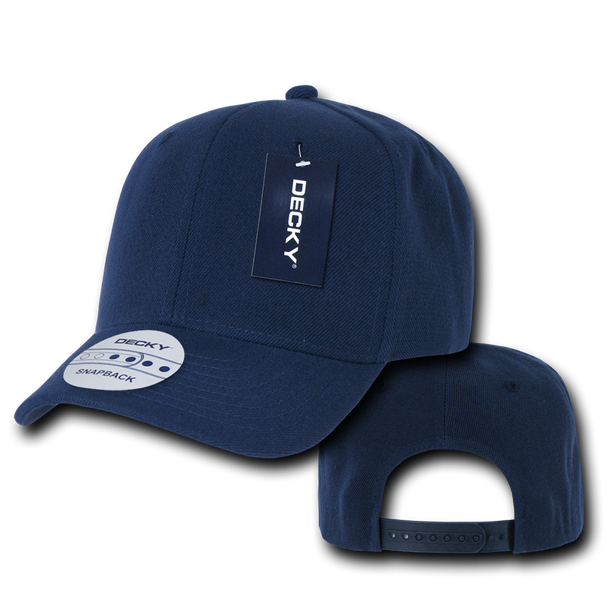 Acrylic Curved Bill Baseball Cap - Navy Blue