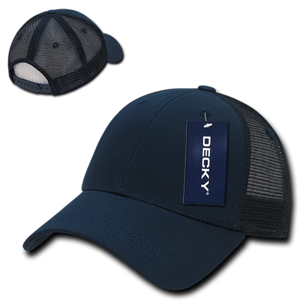 Low Crown Mesh Golf Cap - Navy Blue/Navy Blue
