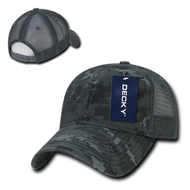 Relaxed Camo Trucker Cap - Navy Blue Digital Camouflage