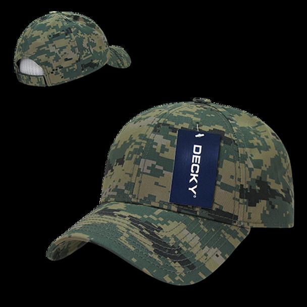 Structured Camo Baseball Cap - MCU MARPAT Camouflage