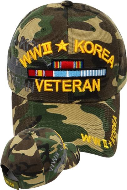 World War II Korea Veteran Cap - Woodland Camo