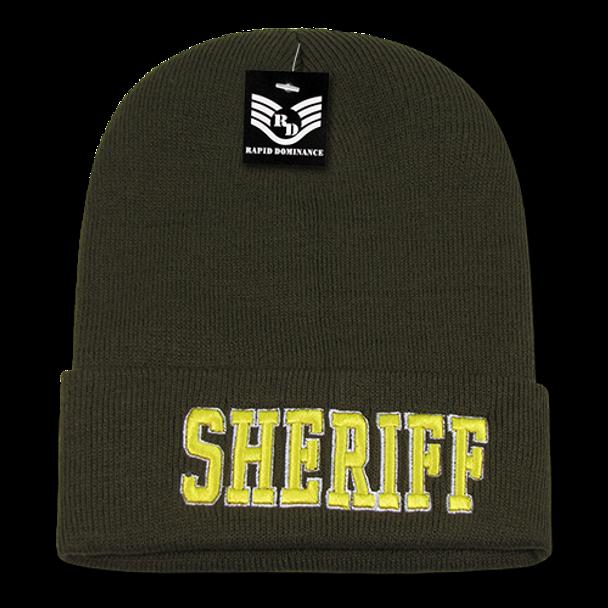 Sheriff Beanie Cap - Olive
