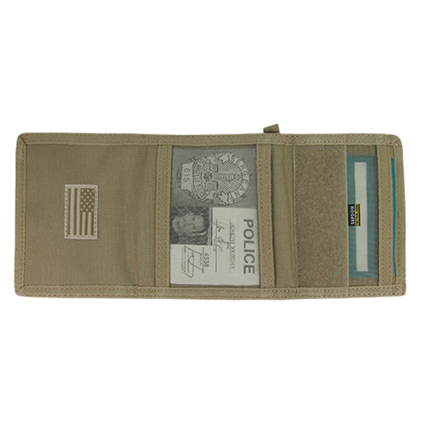 T105 - Tactical Wallet USA Flag Subdued - Khaki