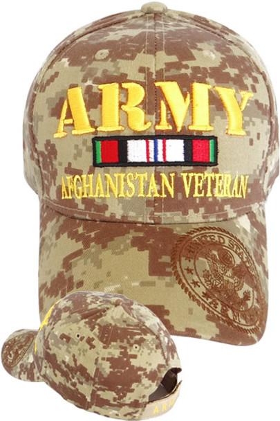 U.S. Army Afghanistan Veteran Cap - Desert Digital Camo