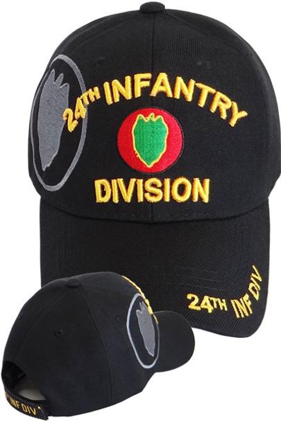 775255d6784 24th Infantry Division Cap - Black - USMILITARYHATS.COM
