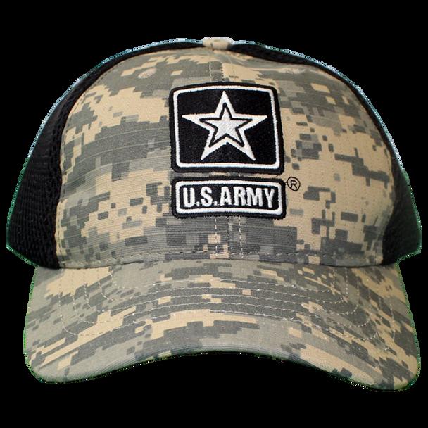 26023 - U.S. Army Cap - Made in USA - Digital Camo/Black Mesh