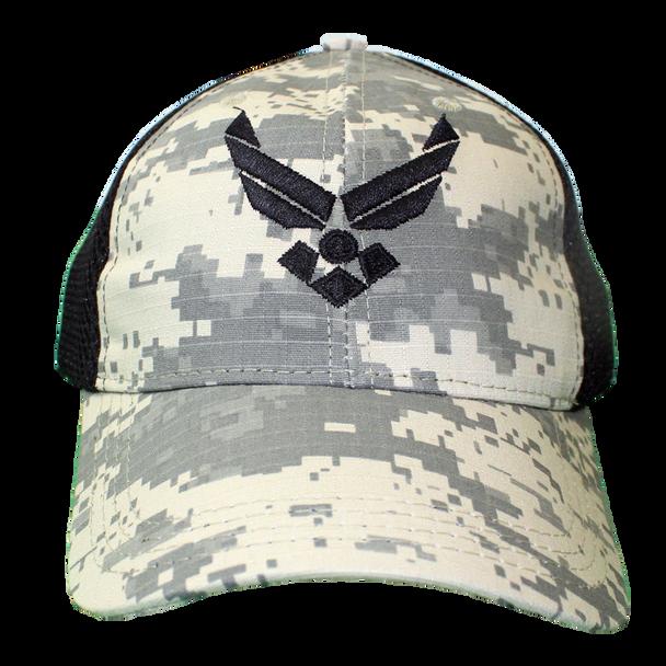 26047 - U.S. Air Force Cap - Made in USA - Digital Camo/Black Mesh