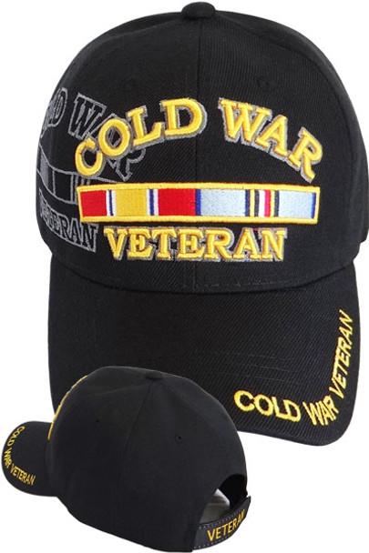 Cold War Veteran Ribbon Shadow Cap - Black