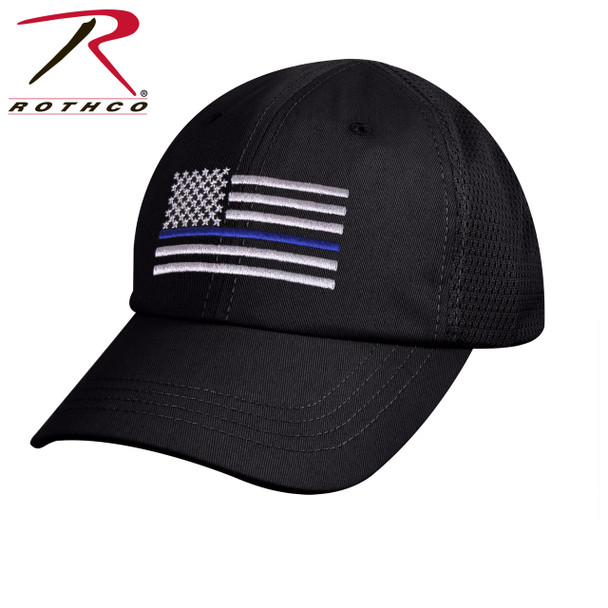 Rothco Tactical Mesh Back Cap With Thin Blue Line Flag (Item #9973)