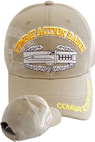 Combat Action Badge Shadow Cap - Khaki