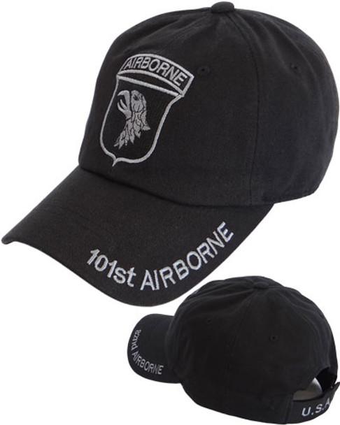 8d7cf9fec3c 101st Airborne Division Cotton Cap - Black