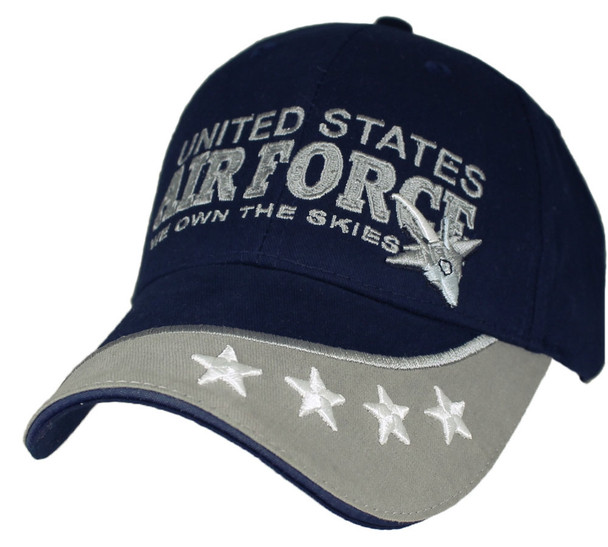 5789 - U.S. Air Force Cap Cotton - We Own The Skies - Dark Blue/Grey
