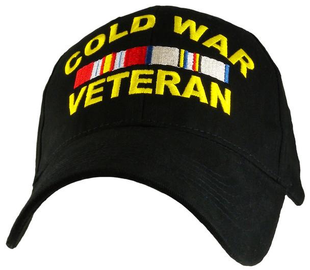 6428 - Cold War Veteran Ribbons Cap Cotton - Black