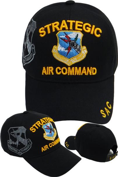 Strategic Air Command Logo Shadow Cap - Black