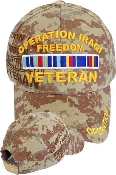 Operation Iraqi Freedom Veteran Shadow Cap - Desert Digital Camo