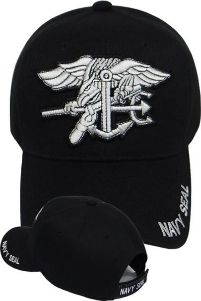 Navy Seal Trident Insignia Cap - Black
