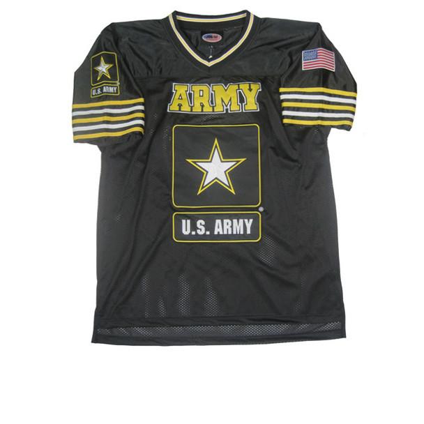 03819 - Army Football Jersey With Army Star Logo - Black